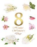 Jour heureux du ` s de femmes, ressort Image stock