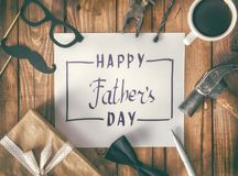 Jour heureux du ` s de père Photo stock