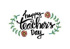 Jour heureux du ` s de professeur illustration libre de droits