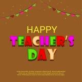 Jour heureux du ` s de professeur Image stock