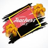 Jour heureux du ` s de professeur Images stock