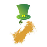 Jour heureux du ` s de St Patrick Avatar plat Photo stock