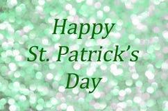Jour heureux du ` s de St Patrick avec l'étincelle et le scintillement illustration libre de droits