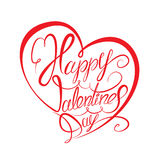 Jour heureux du `s de Valentine Élément calligraphique Photographie stock libre de droits