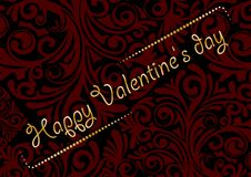 Jour heureux du `s de Valentine Photos libres de droits