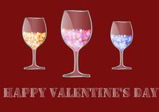 Jour heureux du `s de Valentine Photographie stock libre de droits