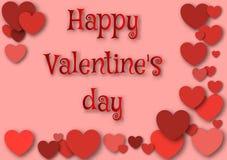 Jour heureux du `s de Valentine Photos stock