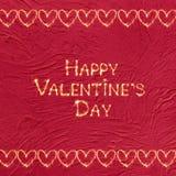 Jour heureux du ` s de Valentine de carte de voeux de vintage Photographie stock
