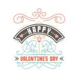 Jour heureux du `s de Valentine Conception de lettrage de vecteur de dessin de main canette illustration libre de droits