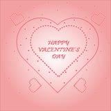 Jour heureux du ` s de Valentine de carte postale Photographie stock libre de droits