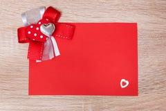 Jour heureux du ` s de Valentine de carte postale Photo stock