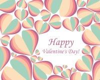 Jour heureux du ` s de valentine de fond ENV 10 Vecteur Photographie stock
