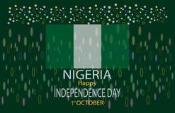 Jour heureux Nigéria d'indepedence de drapeau de conception d'illustration illustration libre de droits