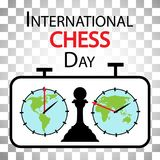 Jour international d'échecs illustration stock