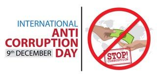 Jour international d'Anti-corruption Photos libres de droits