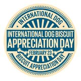 Jour international d'appréciation de biscuit de chien Image stock