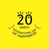 Jour international de bonheur illustration de vecteur