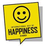 Jour international de bonheur illustration libre de droits