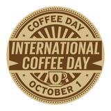 Jour international de café, le 1er octobre illustration de vecteur