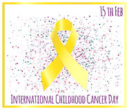 Jour international de Cancer d'enfance Photographie stock libre de droits