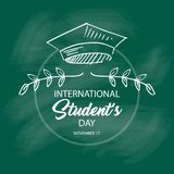 Jour international de ` d'étudiants illustration de vecteur