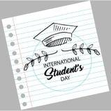 Jour international de ` d'étudiants illustration libre de droits