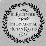 Jour international de droits de l'homme Bannière ou affiche Images stock