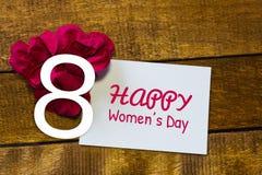 Jour international de femmes Carte de voeux photos libres de droits