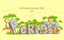 Jour international de forêt Images libres de droits