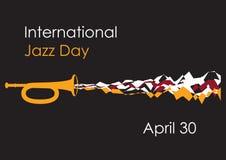Jour international de jazz Image stock