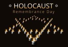 Jour international de souvenir d'holocauste, le 27 janvier Photo libre de droits