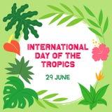 Jour international des dessins et de l'illustration de tropiques illustration libre de droits