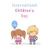 Jour international des enfants s Image stock