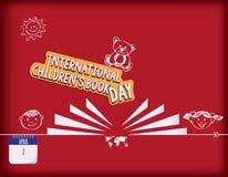 Jour international du livre d'enfants illustration de vecteur