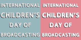 Jour international du ` s d'enfants de la radiodiffusion Photo stock