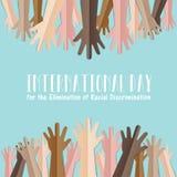 Jour international pour l'élimination de la discrimination raciale illustration de vecteur