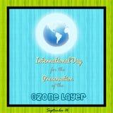 Jour international pour la conservation de la couche d'ozone Image libre de droits