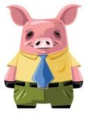 Jour Job Office Pig Image libre de droits