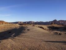 Jour lumineux dans le désert (Ténérife, îles Canaries) Images libres de droits