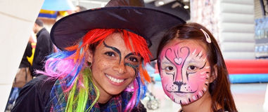 Jour méga d'amusement de peinture de visage Image stock
