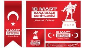 Jour 18 mars de Gallipoli de victoire et de souvenir de martyres Photos libres de droits