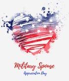 Jour militaire d'appréciation de conjoint des Etats-Unis illustration de vecteur