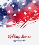 Jour militaire d'appr?ciation de conjoint des Etats-Unis illustration stock