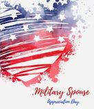 Jour militaire d'appr?ciation de conjoint des Etats-Unis illustration libre de droits