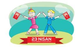 Jour national 23 avril de la souveraineté et des enfants Photographie stock