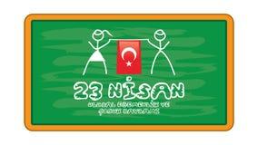 Jour national 23 avril de la souveraineté et des enfants Photographie stock libre de droits