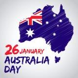 Jour national d'Australie illustration stock