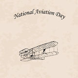 Jour national d'aviation illustration stock