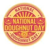 Jour national de beignet illustration de vecteur