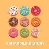 Jour national de beignet illustration stock